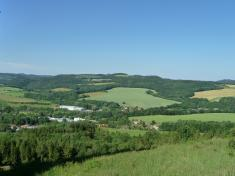 Pohled naBorovou zKunštátského lesa 2017