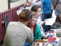 Dětský den 2012malování naobličej