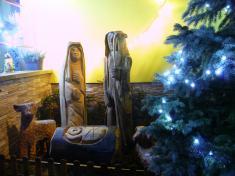 Betlém uvánočního stromečku vnoci