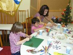 Malujeme Vánoční hvězdu anové dětské hřiště 2011tvoříme