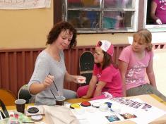 Dětský den 2011malování naobličej