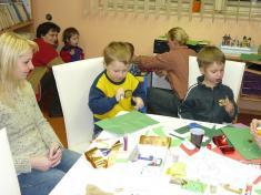 Tvoříme vánoční přání 2010soustředění napráci