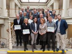 Soutěž Zlatý erb 2018společné foto oceněných